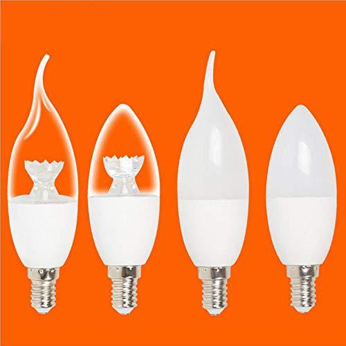 WETRR 160~220V eficiente, Bombilla de luz LED, lámpara E14, Efficient3~7W, no Regulable,6w,shaiptail