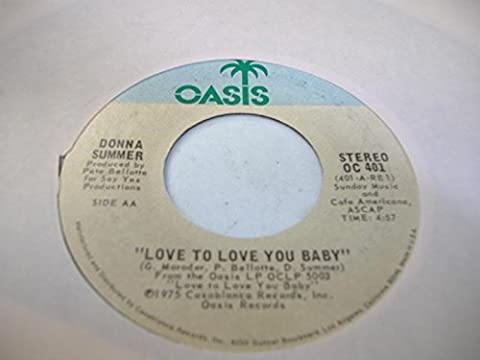 DONNA SUMMER 45 RPM Love To Love You Baby / Love To Love You Baby