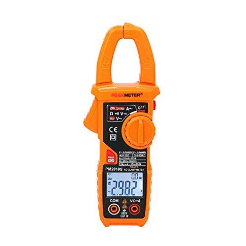 Homyl Digital Clamp Meter Multimeter Manuell Bereich Zangenamperemeter mit Hintergrundbeleuchtung PM2018S Digital Clamp Meter