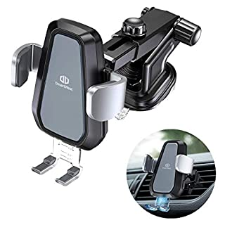 DesertWest Automatic Clamping Wireless Car Charger Mount, 10W Qi Fast Charging Car Phone Holder Dashboard Air Vent Compatible Samsung Galaxy S10/S9/S9+/S8/S8+/S7/S7 Edge/iPhone 8/ 8Plus/X/XS/XS Max