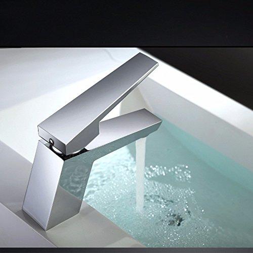 Das Niveau der eine Single Heading Single Loch Waschbecken Wasserhahn Waschbecken Becken von Kalt- und Warmwasser Wasserhahn High-End Badezimmer Schrank, eine geringe Kaltem Getriebe