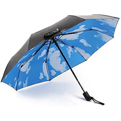 Cielo azzurro Nuvole Bianche ombrello pieghevole