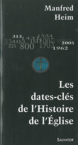 Les dates-clés de l'Histoire de l'Eglise par Manfred Heim