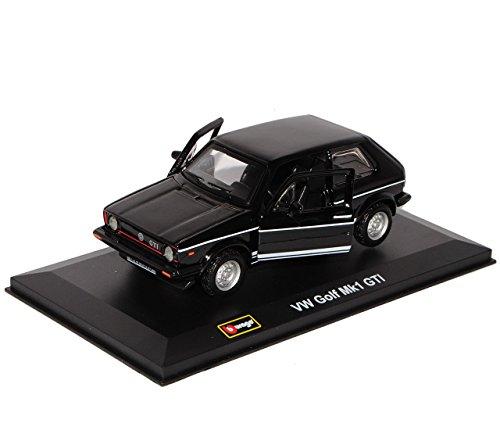 VW Volkswagen Golf 1 GTI Schwarz 3 Türer 1974-1983 1/32 Bburago Modell Auto mit individiuellem Wunschkennzeichen - 4