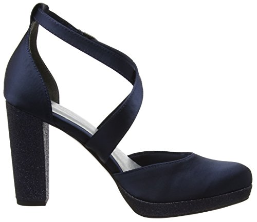 Tamaris 24406, Sandales Bride Cheville Femme Bleu (Navy)