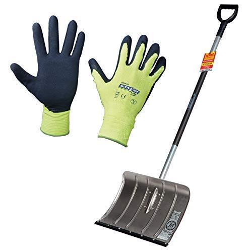 Freund-Victoria - Alu-Schneeschieber mit Flüsterkante inkl. Handschuhe Active Grip