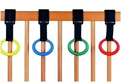 Danielstore - PACK DE 4 Anillas para cunas, Anillas para parque bebe - Multicolor