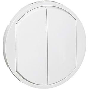 Enjoliveur blanc - Interrupteur double - Céliane - Legrand