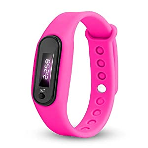 Digital LED Uhren,Fitness Armband Schrittzähler Uhr Outdoor Fitness Tracker Aktivitätstracker für Damen Herren