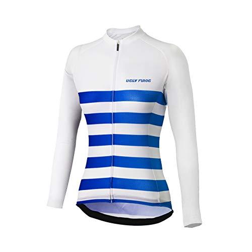 Uglyfrog Bike Wear Damen Outdoor Bekleidung Langarm-Radtrikot Top Fahrrad Shirt Bike Jerse