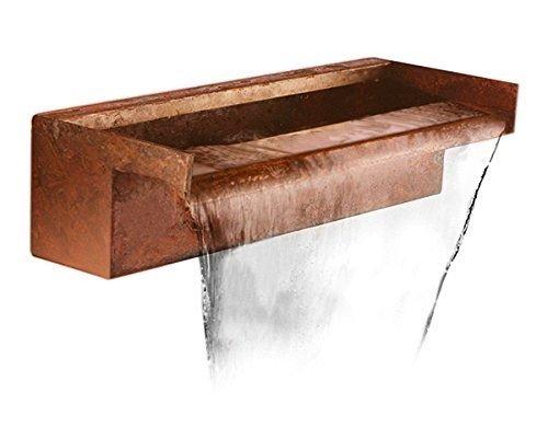 Ambienté 60cm Wasserfallklinge aus Cortenstahl