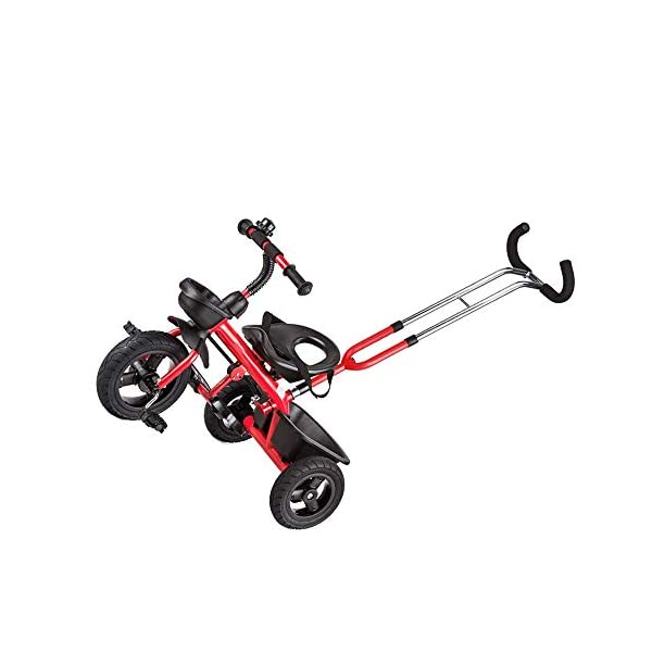 LRHD Baby Bicycle 3 Wheels, Baby Stroller, Children Tricycle, 3-in-1 Children Tricycle, Bicycle, 1-5 Year Old Children Pushing and Riding Bicycle, Children, Birthday Gift LRHD 1.[ Perfect Growth Partner]: Tricycle is suitable for children between 18 months and 6 years old. Four riding styles: baby tricycle, steering tricycle, learning to ride tricycle and classic tricycle. Let this tricycle grow up with your children. 2. [Stable safety]: tricycles for children are equipped with safety belts to increase the safety of children; In addition, the double braking system provides greater protection for children. It also has a foldable foot pedal that can be unfolded/folded when you need it. 3. [[Best Gift] Two-in-one Bicycle is the best birthday gift for a baby to learn to ride a bicycle. Excellent indoor baby walker toys can cultivate children's balance ability and help children acquire balance, steering, coordination and self-confidence from an early age. 4