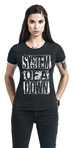 System Of A Down Shattered T-shirt Femme noir Noir
