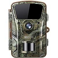SGODDE Wildkamera, Jagdkamera Bewegungsmelder 16MP 1080P mit Infrarot-Nachtsicht bis zu 65 Fuß/20 m IP66 Spray Wasserdicht für Outdoor-Natur, Garten, Haussicherheitsüberwachung