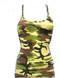 80797425ad Angies Ladies Womens Plain Lycra Stretchy Sexy Sleeveless Cami Stratppy Vest  Top 8 10 12 14