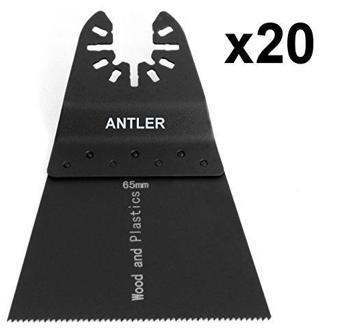 20x 65mm Antler Sägeblätter Dewalt Stanley Worx F30 Erbauer Black & Decker Pendel Multifunktionswerkzeug QAB65WB