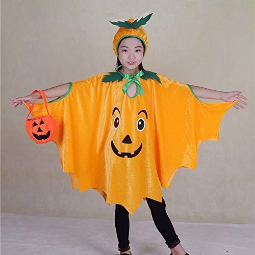 Edelehu Kürbis Muster Hexen Halloween Cosplay Kostüm Tunika Hooded Robe Kapuzenmantel Cape Medieval Kapuzen-Party-Ausrüstung - Hooded Robe Kostüm Muster