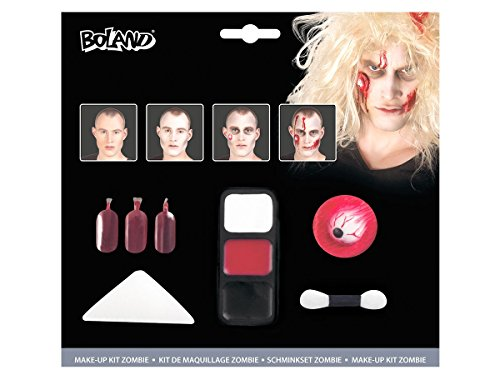 Alsino Zombie Make up 45085 Schminke Kit Karneval Horror Set Kunstblut Schminkset Halloween ()