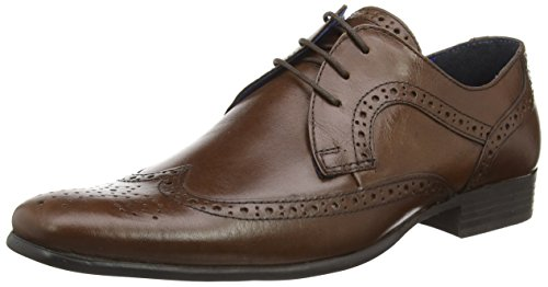 Red Tape Louth, Chaussures brogues à lacets homme Marron - Marron