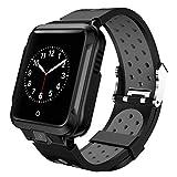 Compatible con la cámara Inteligente Android Reloj GPS Bluetooth WiFi 1000mAh Deporte SmartWatch los Hombres de la Correa de Silicona
