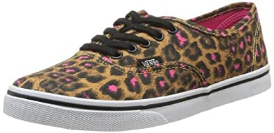 Vans U Authentic Lo Pro Leopard, Baskets mode mixte adulte - Noir (Black/Magenta), 36.5 EU