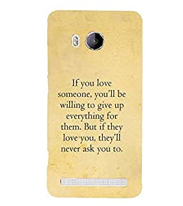 Fuson Designer Back Case Cover for Vivo Xshot :: Vivo X Shot (Achievement Quotes :: Love quotes :: Better understanding quotes :: Willing to give up quotes )