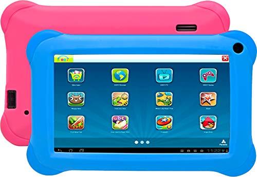 Denver TAQ-70352 BLUEPINKTablet PC (Intel Pentium K.A., 1GB de RAM, SO Android 8.1GO, Funda Rosa y Azul