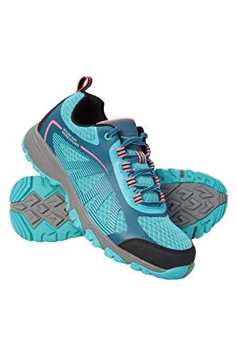 Mountain Warehouse Rainforest II Damenschuhe - Breathable Damen Wanderschuhe, leichte Stiefel, Gummi-Sohle Schuhe - für den Frühling Reisen, Wandern Grün 40 EU