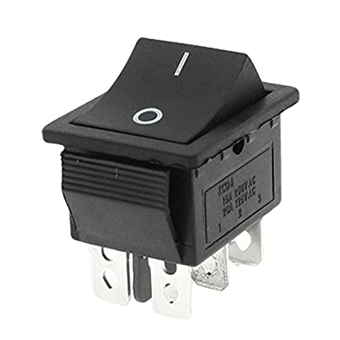 SODIAL(R) 250V/15A 125V/20A AC ON/OFF DPDT Rocker Switch 2