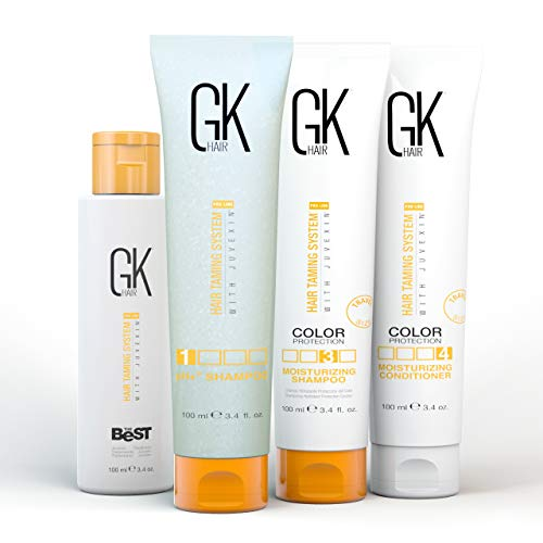 Global Keratin GKhair Der beste professionelle Haarglätter, Glättungs-Keratin-Behandlungs-KIT (100 ml/3.4 fl.oz) Für seidiges, glattes Naturhaar