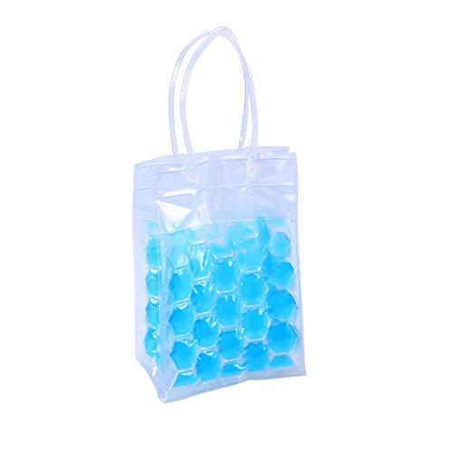 BESTONZON 2 Bottles 750ml Environmental Friendly PVC Wine Bottle Chill Cooler Ice Bag 4 Sides Red...