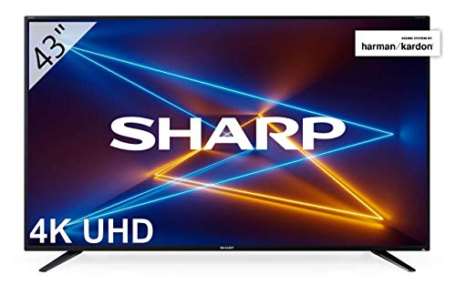 SHARP LC-43UI7252E 109 cm (43 Zoll) Fernseher (4K Ultra HD Smart LED TV, Harman/Kardon Soundsystem, Triple Tuner)