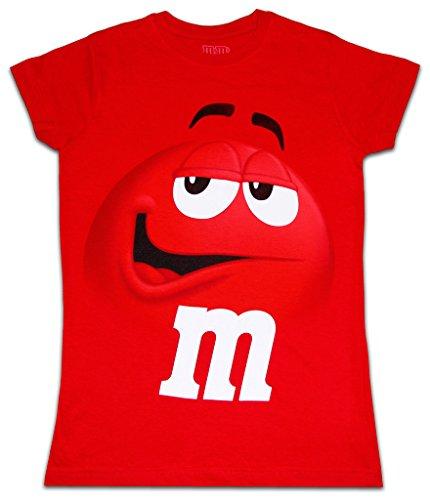 M&M's - T-shirt - Uni - Femme Rouge