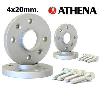 Athena Kit 4 DISTANZIALI Ruote 20 MM. Mito dal 2007 in Poi con BULLONI in Acciaio
