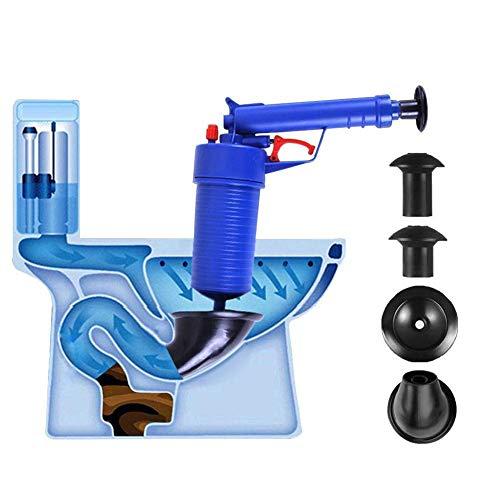 Fdit Air Power Drain Blaster, Hochdruck Abflussöffner für WC Badezimmer blau