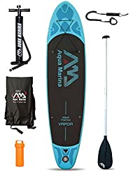Vapor (10Pies 10 en/3.3 m) hinchable Stand Up Paddle Board Sup, hombre mujer, Board + Paddle + Leash