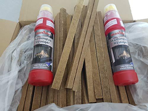 Fidibusse Lot de 200 allume-feu pour barbecue avec brosse 200 ml