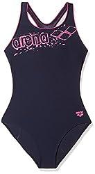 Arena 23765-77 Marionne Swimsuit, 16 Years (Denim/Fuchsia)