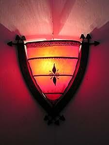 Bordure rouge en métal Style marocain henné Applique murale