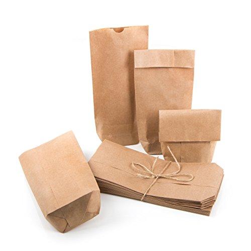 Pequeñas Bolsas marrones Papel Kraft papel 10,7x 22x 4,2cm Mini de bolsas Cruz suelo Bolsa Natural de bolsa suelo Bolsa sackerl mesa del paquete Tarjeta de Regalo Give Away bio–Bolsas de papel 25 Stück
