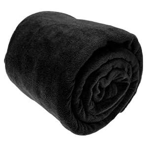 Hundebett Flanell Fleece Couch Überwurf, leicht Plüsch Samt Überwurf Decke, Microfaser, schwarz, 150*200cm