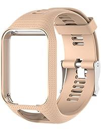 Favourall Correa de silicona de repuesto para reloj TomTom 2/3 serie GPS, deportivo, correa de silicona, color caqui