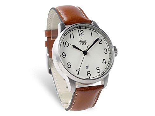 Laco 861651 - Reloj para hombres, correa de cuero color marrón