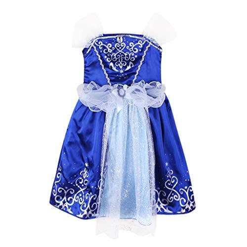 Sunfany Schönes Kinderkleid Kleinkind Kind MäDchen Baby Patchwork Prinzessin Bling KostüMe Party Tutu Kleider(Blau,4-5Years) - Prom Kleider Bling Lange