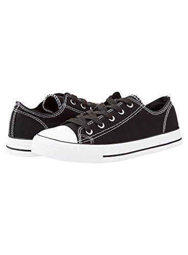 oodji Ultra Donna Sneakers Basic con Finiture a Contrasto Nero (2900N)
