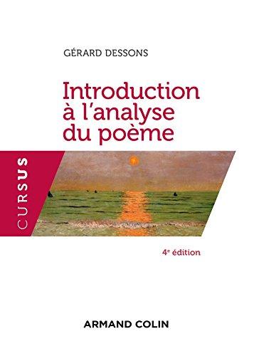 Introduction  l'analyse du pome - 4e d. (Cursus)