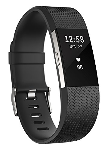 Fitbit Charge 2 Heart Rate + Fitness Wristband, Black, X-Large Fitbit