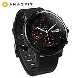 AMAZFIT Stratos 2 Smartwatch, Orologio Sportivo con GPS+GLONASS VO2max Analisi Del Livello di Forma Fisica, Sensore di Frequenza Cardiaca, Touch Display Funziona con iOS e Android Smartphone