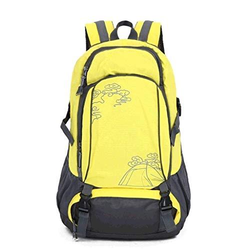 AEBDF Sportrucksäcke;Leichter Wanderrucksack for Camping, Jagd, Reise und Outdoor. Faltbarer Wanderrucksack for Damen Herren (Color : Yellow)