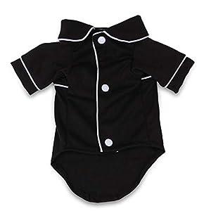 Fablcrew Vêtements Chiot Petit Chien Pyjama pour Animaux de Compagnie Noir Code Chiffon XL Vêtements pour Chien